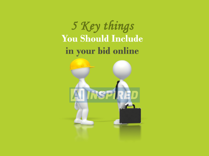 5 key things you should include in your bid online