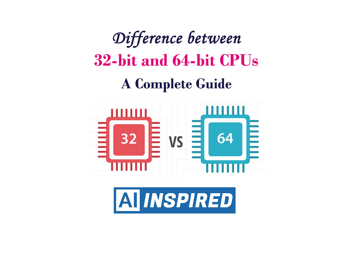 Difference between 32-bit and 64-bit CPUs and OSs