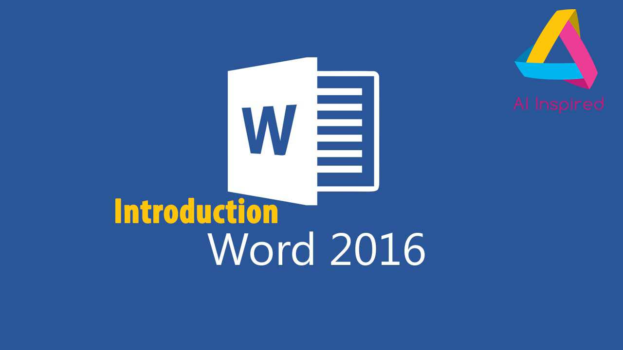 Introduction to MS Word 2016